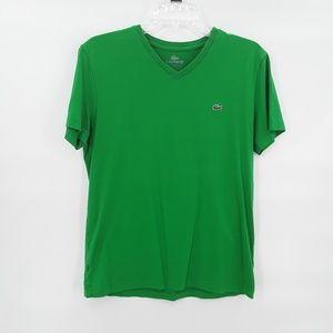 Vintage Lacoste green v neck t shirt